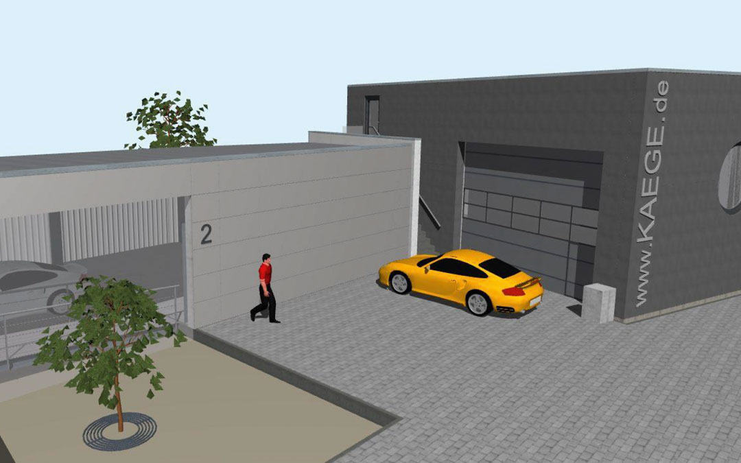 Kaege AUTOMOBILE erweitert Firmengebäude.